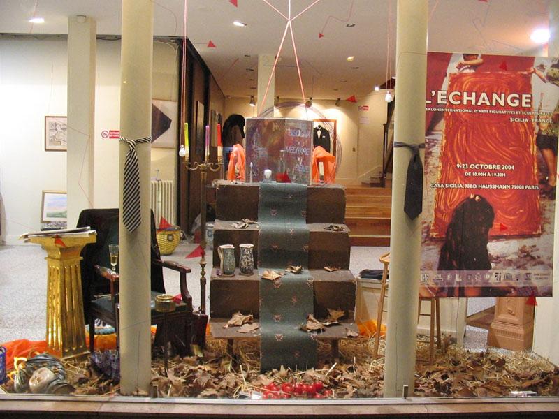 claudio arezzo di trifiletti 2004 exhibition paris installazione