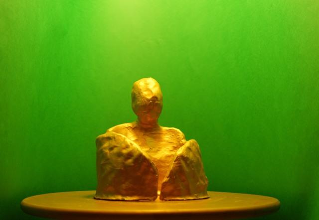 πηλό βαμμένο χρυσό