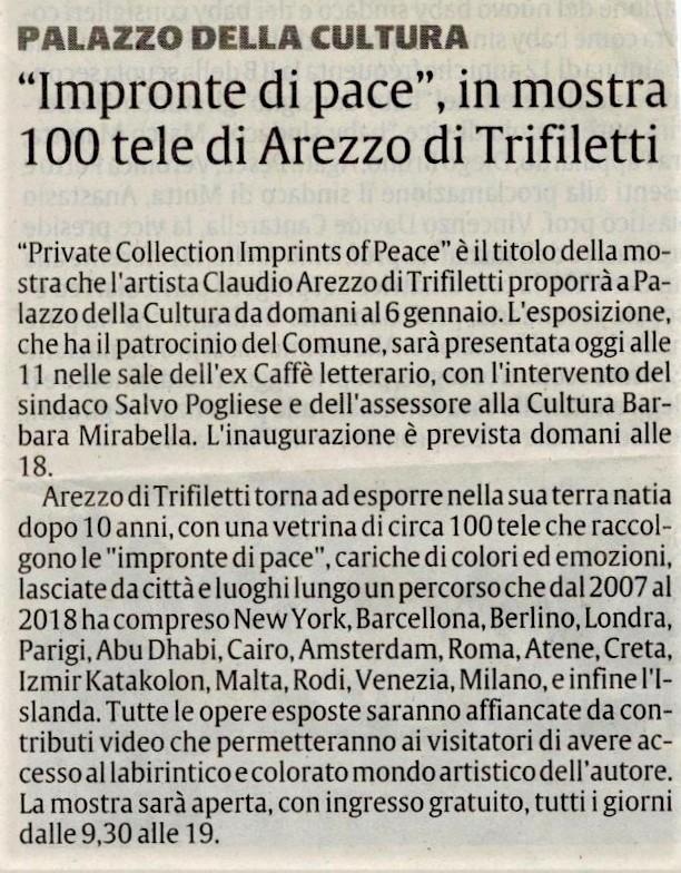 La Sicilia 30/11/2018 Venerdì